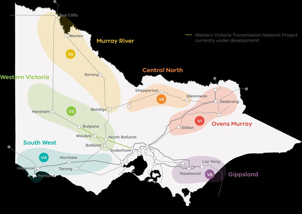 6 Victorian Renewable Energy Zones (REZs)