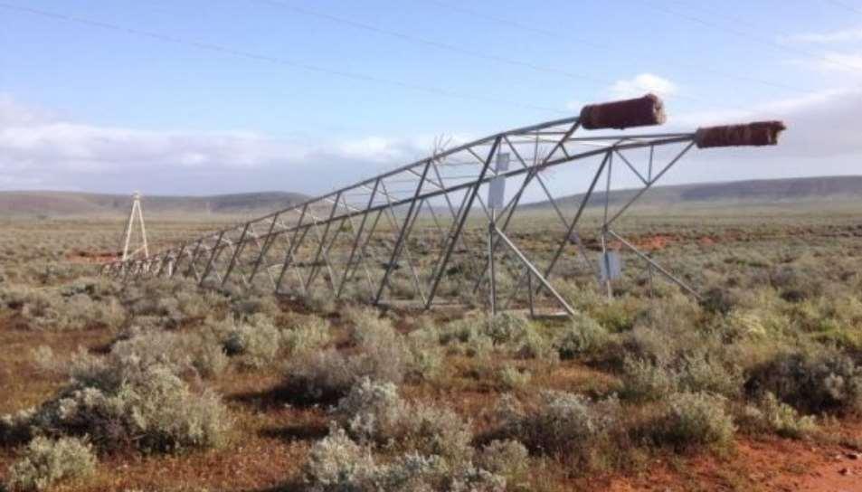 Fallen 275 kV tower in South Australia