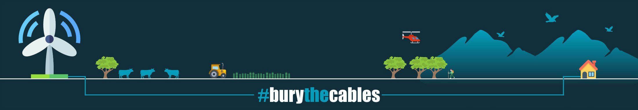 Darley Power Fight Bury The Cables Banner
