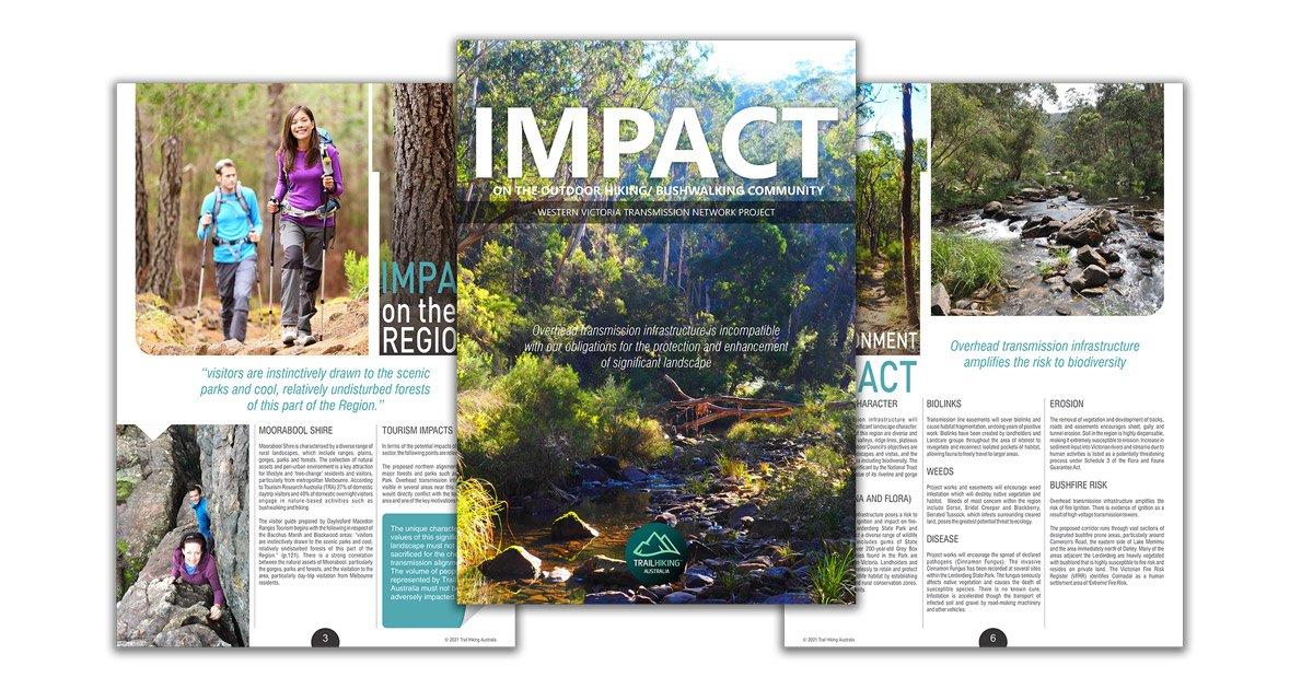 WVTNP Impact on Recreational Hikers brochure