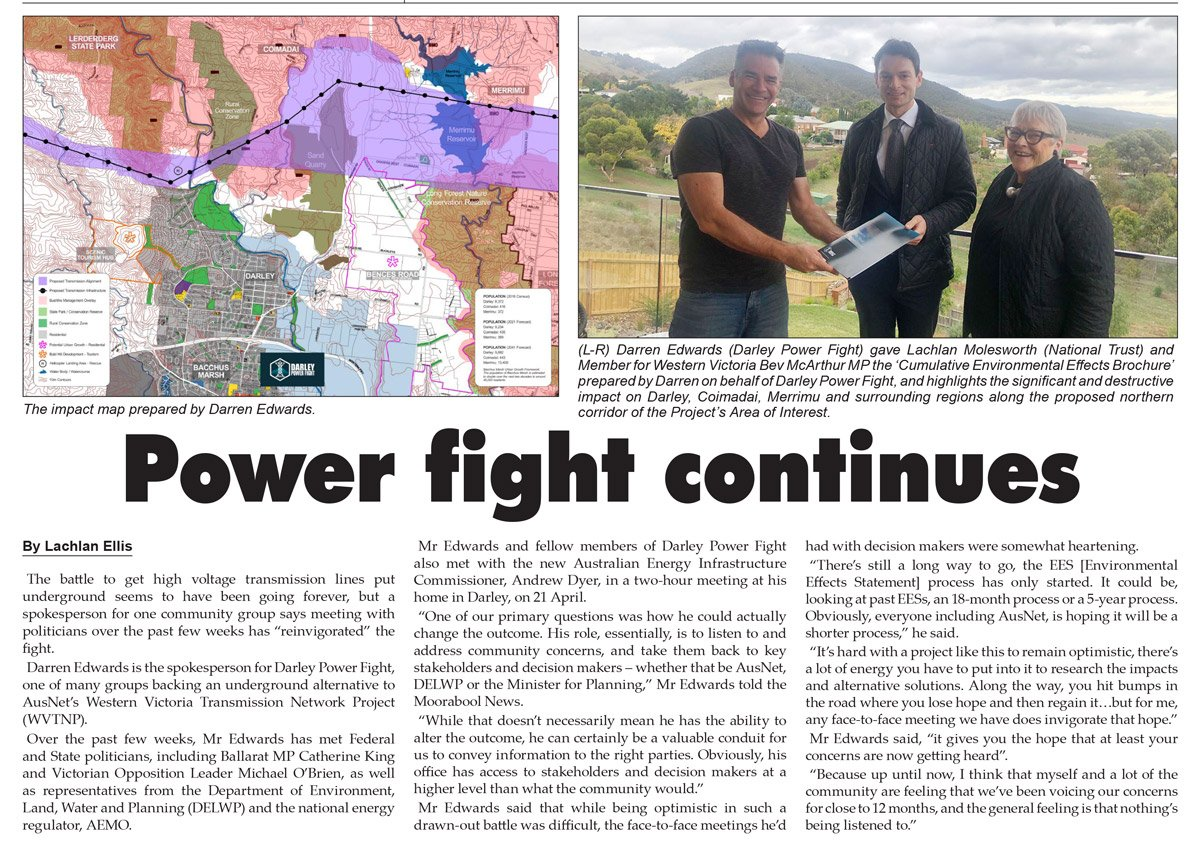 Moorabool News Power Fight Continues
