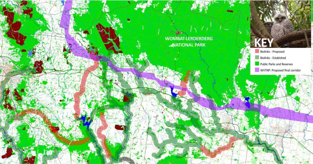 Biolink Map Moorabool Landcare Network